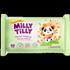 Детские влажные салфетки Milly Tilly Мягкое очищениес календулой, 60 шт.
