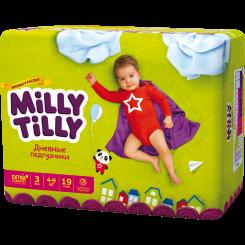 Детские дневные подгузники Milly Tilly,  Миди 3 (4-9 кг), 19 шт.