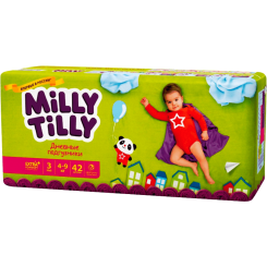 Детские дневные подгузники Milly Tilly,  Миди 3 (4-9 кг), 42 шт.