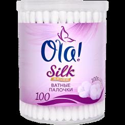 Ватные палочки OLA! Silk Sense в пластиковой банке, 100шт.
