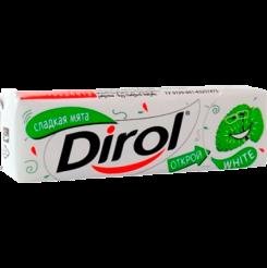 Жевательная резинка без сахара Dirol отбеливающий Сладкая мята, 13.6 г