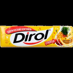 Жевательная резинка Dirol Тропический Коктейль без сахара, 13.6 г