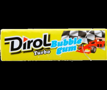 Жевательная резинка Dirol Турбо со вкусом мяты и фруктов без сахара, 13.6 г