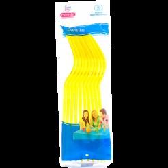 Пластиковые вилки EVENTA желтые, 10 шт.